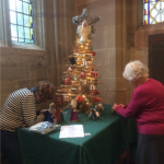 The felted crib figures make another appearance at St Peter's Church