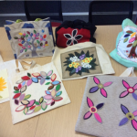 A project using felt to decorate a linen bag